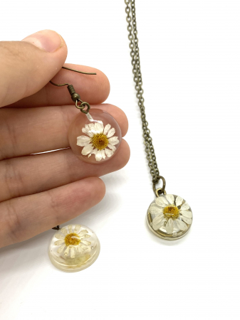 Set de bijuterii cu margarete0