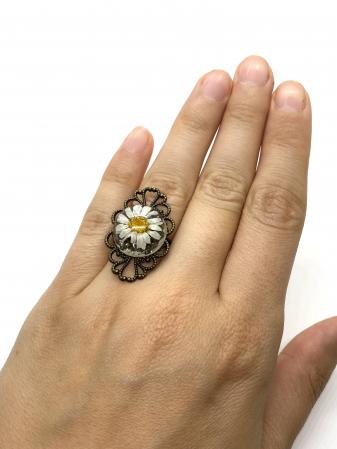 Inel cu flore de margareta cercercei [7]