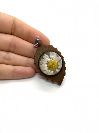 Pandantiv frunza cu margareta [3]