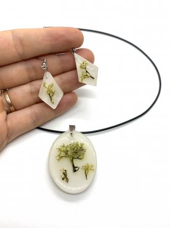 Set de bijuterii cu licheni - Set bijuterii handmade [0]