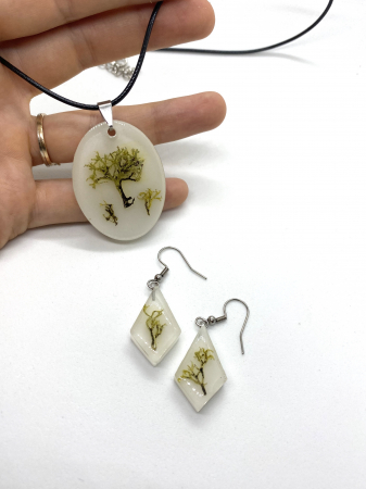 Set de bijuterii cu licheni - Set bijuterii handmade [1]