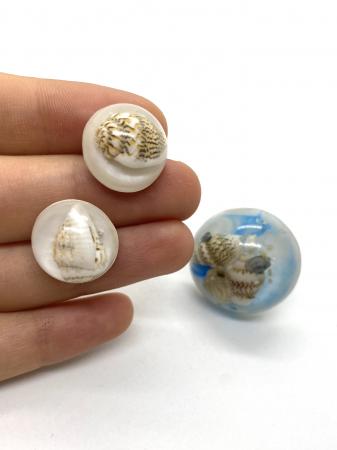 Set de bijuterii handmade cu scoici cercercei [0]
