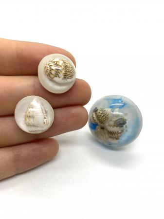 Set de bijuterii handmade cu scoici cercercei [2]
