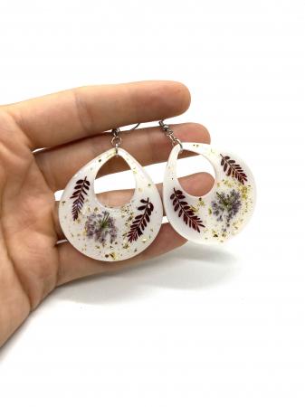 Cercei cu frunze cercercei - Cercei handmade [0]
