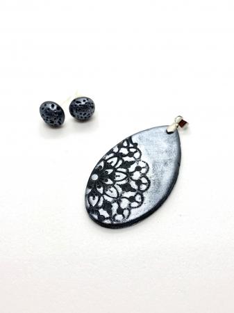 Set de bijuterii handmade cu mandala cercercei [0]