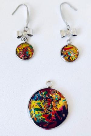 Set bijuterii cu creioane colorate0