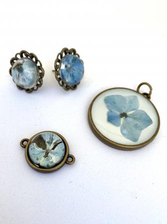 Set bijuterii cu hortensii0