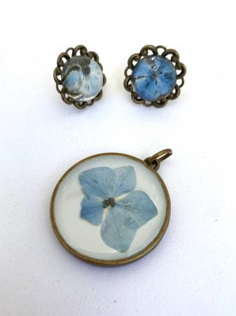 Set bijuterii cu hortensii4