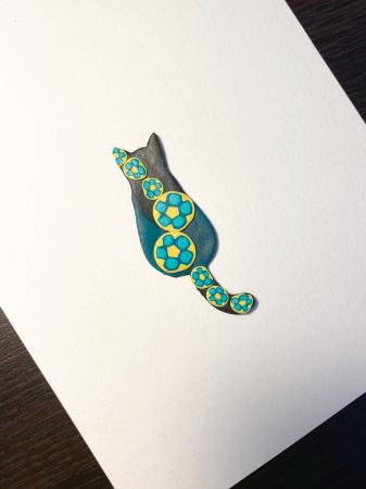 Brosa pisicuta colorata4