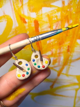 Cercei acuarele handmade [9]