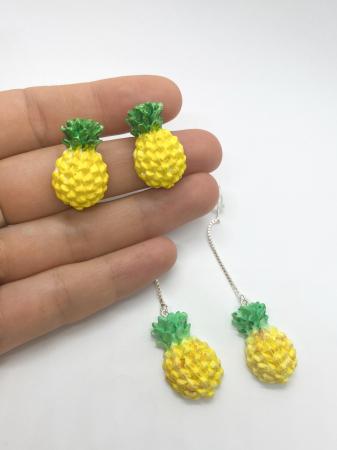 Cercei cu ananas cercercei handmade [4]