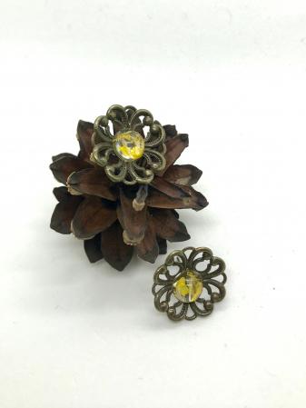 Cercei cu flori galbene0