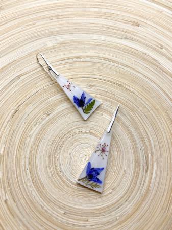 Cercei cu flori si agatatoare din argint2