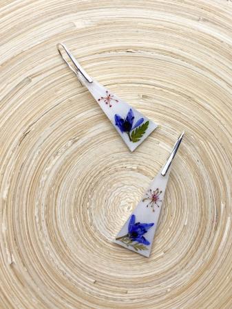 Cercei cu flori montati in argint - Cercei Handmade [3]