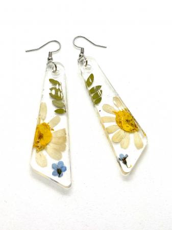 Cercei cu flori si frunze handmade [0]