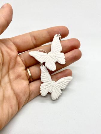 Cercei cu fluturi din argint - handmade [9]
