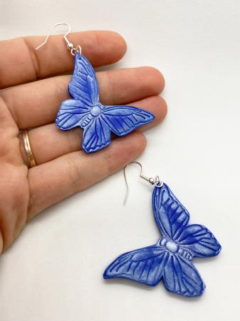 Cercei cu fluturi din argint - handmade [1]