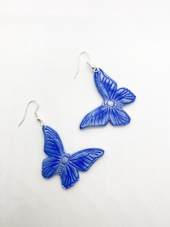 Cercei cu fluturi din argint - handmade [0]