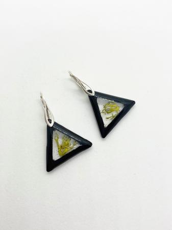 Cercei cu licheni si agatatoare din argint1