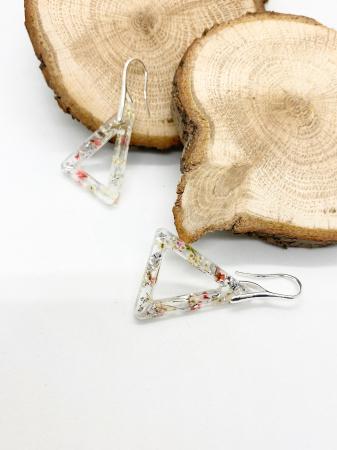 Cercei cu flori si foita de argint - Cercei Handmade [3]