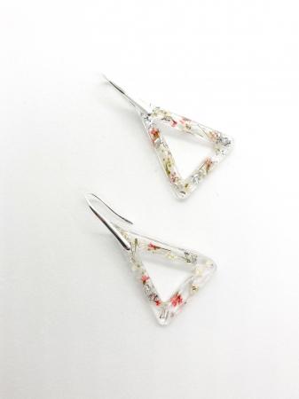 Cercei cu flori si foita de argint - Cercei Handmade [0]
