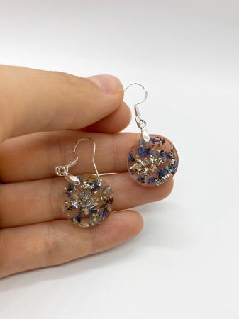 Cercei cu flori mici - Cercei Handmade [0]