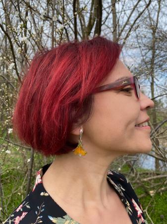 Cercei cu petale galbene - Cercei Handmade [13]