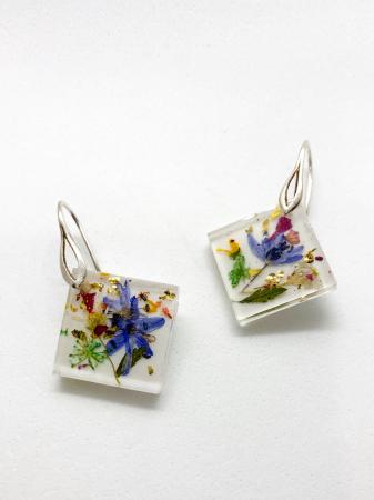 Cercei cu viorele si frunze2