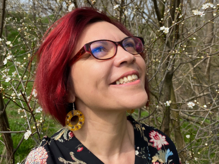 Cercei cu petale galbene si flori [3]