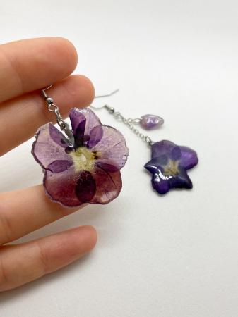 Cercei din petale de floare handmade [6]
