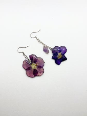 Cercei din petale de floare handmade [4]
