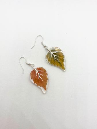 Cercei frunze de toamna din argint0