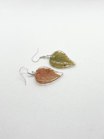 Cercei frunze de toamna din argint [4]