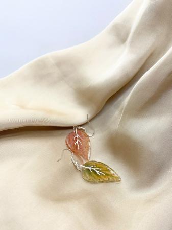 Cercei frunze de toamna din argint [3]