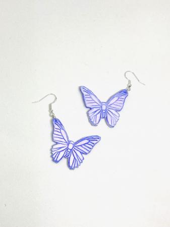 Cercei cu fluturi din argint - handmade [4]