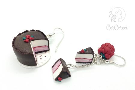 Cercei tort cu zmeura si ciocolata cercercei [0]