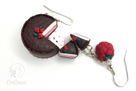 Cercei tort cu zmeura si ciocolata cercercei [3]