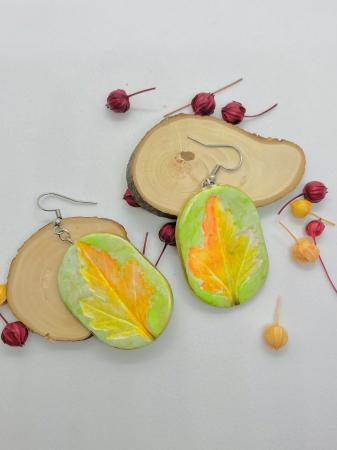 Cercei cu frunza handmade [6]