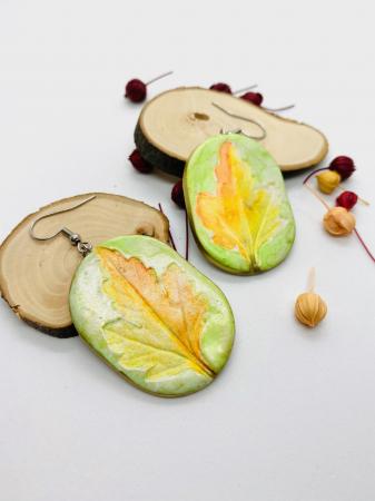 Cercei cu frunza handmade [4]
