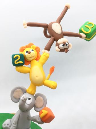 Figurina de tort cu animale - 3 ani - handmade [4]
