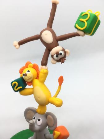Figurina de tort cu animale - 3 ani - handmade [3]