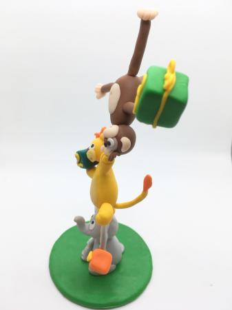 Figurina de tort cu animale - 3 ani - handmade [7]