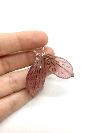 Cercei din petale de floare handmade [0]