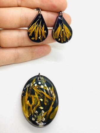 Set de bijuterii cu petale de galbenele0