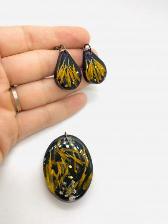 Set de bijuterii cu petale de galbenele2