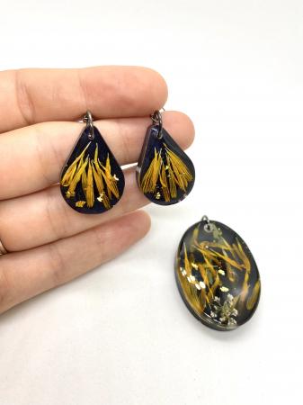 Set de bijuterii cu petale de galbenele3