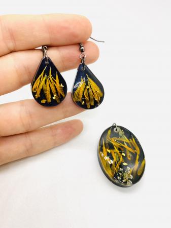 Set de bijuterii cu petale de galbenele1