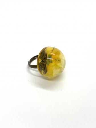 Inel cu floare galbena cercercei [0]