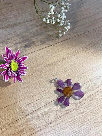 Pandantiv cu floare de camp mov [6]