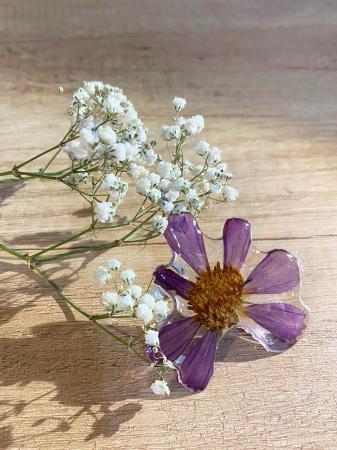 Pandantiv cu floare de camp mov [9]